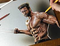Hugh Jackman Wolverine Portrait