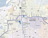 North Texas Tollway Authority System Map