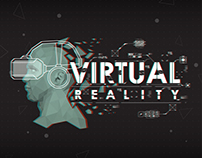 virtual reality logo with HUD elements