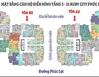 Ruby City CT3 ✅ Phúc Lợi là dự án tổ hợp 2 tòa tháp căn