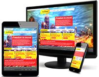 Tracker Responsive Website Design