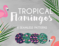 Tropical Flamingos Pattern | Collection for Freepik