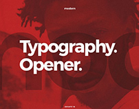Typography Opener | After Effects Template