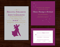 Stargazing Wedding Invitation Suite