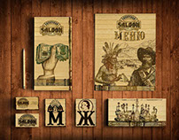 Siberian saloon restaurant. Corporate identity