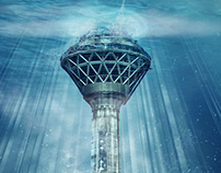 Tehran Milad Tower Under Water