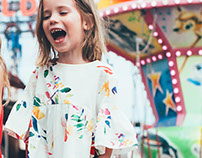 Commissioned watercolor leaves print - ZARA KIDS