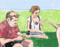 iPad series - picnic scene