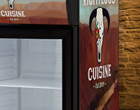 Righteous Cuisine Can Cooler Decals