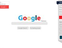 Google.com UI Redesigned - Concept Work