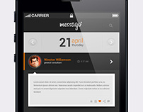 mesago user interface