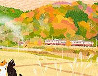TABINEKO-Autumn color patchwork