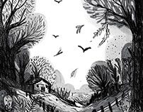 Autumn forest illustration