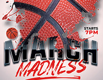 Basketball March Madness Flyer Template
