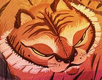 tiger on lake