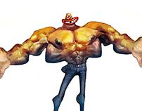Muscular man!