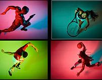 2018: Nike Basketball, tennis, running, adidas soccer