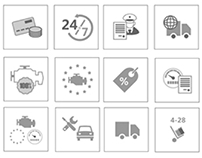 Icons for landing page