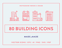 Line Icons – Buildings
