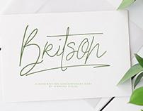 Britson - Handwritten Contemporary Font