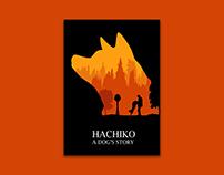 Hachiko Minimal Movie Poster