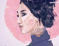 Japanese Woman I Digital Painting