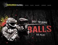 Thundermoon Paintball   Branding, Web design