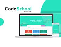 CodeSchool Landing Page Design