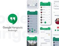 Google Hangouts Redesign