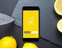 Lemon Slice - concept app design - login/signup screens