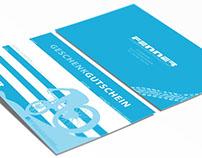Grafikdesign / Gutscheine Fenners Fahrrad Fachgeschäft