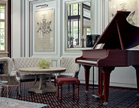 Have a good rest at the piano. 3D max.