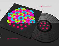 Vinyl Record Design Concept. Club Music.