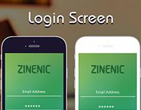 Mobile app Login screen design  #AppUI