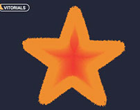 Starfish with blend tool in Adobe Illustrator