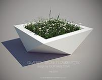 QUADRO - Stone flower pots