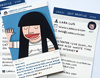 Instagram inspired Business Cards