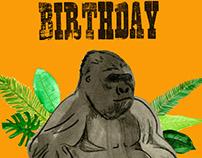Gorilla Birthday Cards