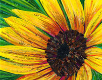 Sunflower - Created with Recycled Material