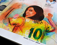 Futbol femenino - Cromos magazine / illustrations