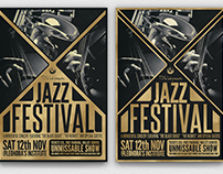Golden Jazz Flyer Template
