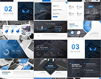 36+ Best Company Blue business PowerPoint templates