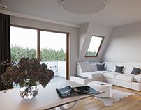 Living room & kitchen - 2 versions