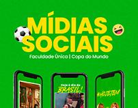 Mídias Sociais - Faculdade Única (copa do mundo)