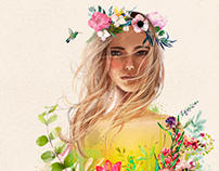 beauty floral girl