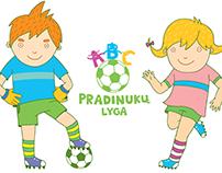 """""""PRADINUKŲ LYGA"""" logotipas ir iliustracijos"""