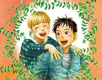 Illustrations for the children's novel by Junko Oya