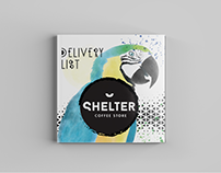 New Delivery List flyer for Shelter Coffee Store