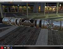 Work In Progress 3D modeling of men's silver bracelet