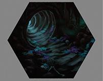 """tile for a boardgame """"hidden galaxy''"""